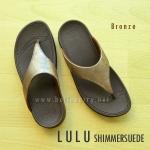 **พร้อมส่ง** New 2015 !! FitFlop LULU Shimmersuede : Bronze : Size US 7 / EU 38