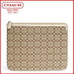 Coach Signature Khaki Tablet Sleeve Case for IPAD E-Reader # 61035 KHAKI/GOLD