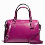 Coach Peyton Patent Leather Bennett Mini Satchel # 50059 สี Silver/Magenta