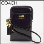 Coach Madison Patent Leather Universal Case # 61958สี Purple