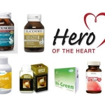 6 HEROS OF THE HEART เซ็ทวิตามินอาหารเสริม 6ชนิดที่จะช่วยลดไขมันในเส้นเลือด ป้องกันเส้นเลือดแตกในสมอง ป้องกันโรคหัวใจ ประกอบด้วย Omega Cardi Odourless, Exec B , Lecithin 1200mg ,HI-green 375 mg, CoQ10,Immunytop Garlic
