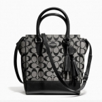COACH legacy signature mini tanner # 48879  SILVER / BLACK WHITE / BLACK