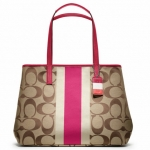 Coach Hamptons Weekend Signature Stripe Large Tote # 10054
