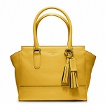 Coach legacy leather candace carryall # 19891 สี BRASS / SUNFLOWER