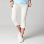 กางเกงขาสี่ส่วน สีขาว เอวยืด มีกระเป๋า (2XL,3XL,4XL,5XL)