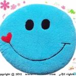 เบาะรองนั่งแฟนซี-พระจันทร์ยิ้ม-สีฟ้า