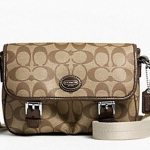 Coach Peyton Field Bag # 48759 สี KHAKI/MAHOGANY