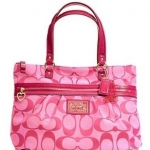 Coach Daisy Signature Tote Bag Purse # 22947 สี Hibiscus