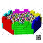 SJCCR-014 ปราสาทบอล 6 เหลี่ยม (ราคารวมลูกบอล1000ลูก)