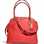 COACH 27862 MADISON MINETTA IN LEATHER # 27862 สี LI/LOVE RED
