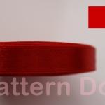 ริบบิ้นผ้าซาติน 0.5 นิ้ว สีแดง