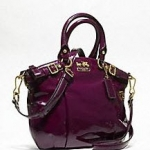 COACH MADISON PATENT MINI SOPHIA SATCHEL # 18595 Plum