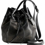 COACH 45394 AUDREY LEATHER DRAWSTRING CROSSBODY BAG