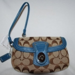 Coach 41941 Signature Legacy Capacity Wristle # 41941 สี Khaki/Blue