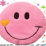 เบาะรองนั่งแฟนซี-พระจันทร์ยิ้ม-สีชมพู