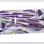 สติ๊กเกอร์ MIO-125 MX ปี 2012 รุ่น 8 ติดรถสีม่วง-ขาว