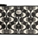 Coach Peyton Dream C Slim Zip Around Wallet # 50526 สี SV/BLACK
