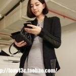 """""""พร้อมส่ง""""เสื้อผ้าแฟชั่นสไตล์เกาหลีราคาถูก เสื้อคลุมสีดำ ด้านหน้าเป็นไหมพรม ด้านหลังและแขนด้านล่างเป็นหนัง แต่งกระเป๋าหนัง2ข้าง มีเชือกหนังผูกเอว"""