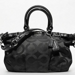 กระเป๋า Coach MADISON OP ART METALLIC OUTLINE SOPHIA SATCHEL #18650 สี Black