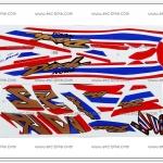 สติ๊กเกอร์ DASH-RS ปี 2001 ลายธงชาติ