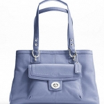 COACH PENELOPE LEATHER CARRYALL # 19044 สี SILVER/CORNFLOWER
