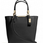 COACH MADISON MINI NORTH/SOUTH TOTE IN SAFFIANO LEATHER # 29901 สี LI/BLACK