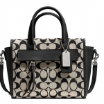 COACH BLEECKER MINI RILEY CARRYALL IN PRINTED SIGNATURE FABRIC # 30168 สี Light Khaki Madeira/Vachetta สำเนา