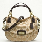 Coach kristin op art round satchel # 19328 Khaki
