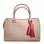 Coach legacy perforated leather haley satchel # 23577 สี BISQUE