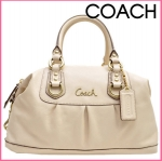 COACH ASHLEY LEATHER SATCHEL # 15445 Brass/Bone