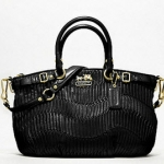 Coach madison gathered leather sophia satchel # 18620  Brass Black
