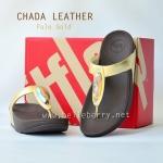 **พร้อมส่ง** รองเท้า FitFlop Chada (Leather) : Pale Gold : Size US 7 / EU 38