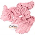 ผ้าพันคอแฟชั่นเกาหลีสีพื้น Hot Basic : สีชมพู CK0409