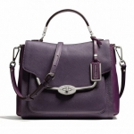 COACH MADISON SPECTATOR SMALL SADIE FLAP SATCHEL IN SAFFIANO LEATHER # 26274 สี SILVER/VIOLET MULTI