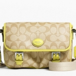 Coach  Peyton Field Bag # 48759 สี  KHAKI CHARTREUSE