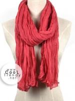 ผ้าพันคอแฟชั่น Cotton Candy : สี Red Rose