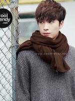 ผ้าพันคอผู้ชาย Man scarf ผ้า cashmere 180x30 cm - สี Chocolate