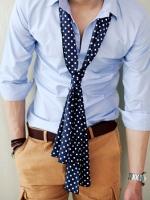 ผ้าพันคอลายจุดแฟชั่นผู้ชายจากเกาหลีมี4สี