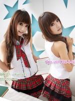 ชุดนักเรียนญี่ปุ่น ชุดแฟนซีแนวใส ๆ เสื้อแขนกุด