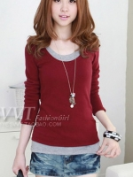 PRE:สินค้านำเข้า>เสื้อ2ชั้นหลอกติดกัน (มีให้เลือก5สี)