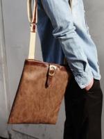 กระเป๋าลำลองหนังหัวเข็มขัดสะพายไหล่แฟชั่นเกาหลีมี2สี