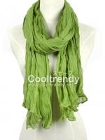 ผ้าพันคอแฟชั่น Hot Basic : สี Apple Green