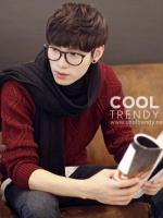 ผ้าพันคอผู้ชาย Man scarf ผ้า cashmere 180x30 cm - สี Black