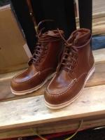 รองเท้าผู้ชาย | รองเท้าแฟชั่นชาย Brown Redwing replica หนัง Oiled Pull Up (หนังวัวแท้)