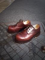 รองเท้าผู้ชาย   รองเท้าแฟชั่นชาย Brown Safety Shoes หนัง Oiled Pull Up