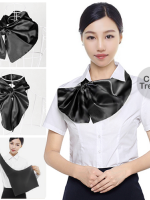 ผ้าพันคอสำเร็จรูป ผ้าไหมซาติน : classic black สีดำล้วน