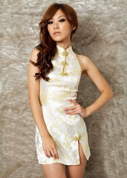 ชุดกี่เพ้า ชุดจีน สีขาว Graceful