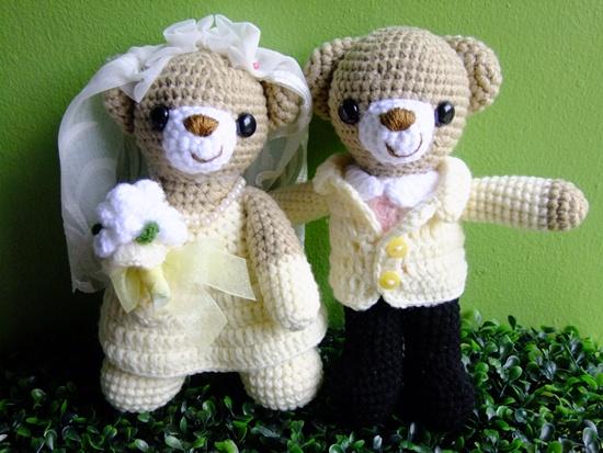 ตุ๊กตาถัก คู่แต่งงาน <<< ขายแล้ว >>>