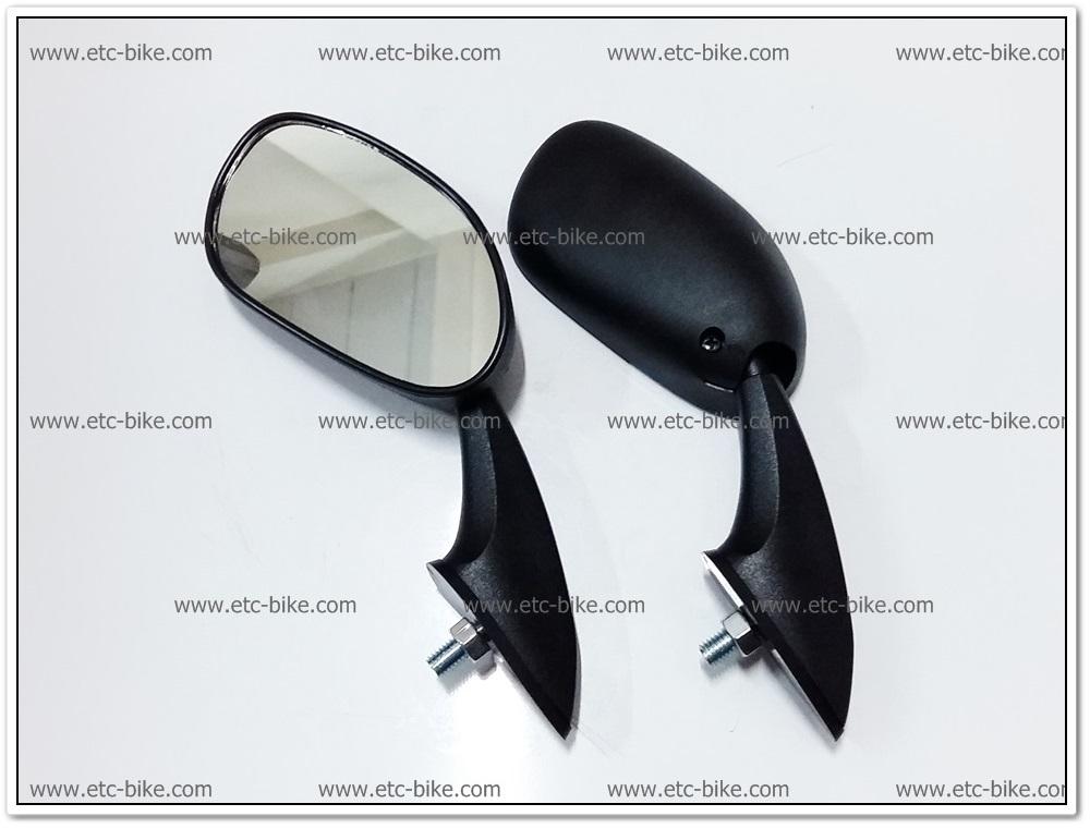 กระจกย่อติดหน้ากาก CBR150 น๊อตยึดตัวเดียว เกลียว 8mm.