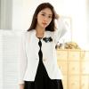 เสื้อคลุมแจ็คเก็ตสั้นไซส์ใหญ่ สีขาว แขนยาว เข็มกลัดถอดออกได้ (XL) A-9740